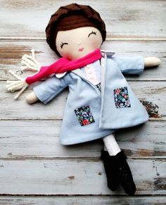 It's snowing here today! ❄❄❄ Good thing Miss Dolly has her new coat, scarf, and boots!  This 3-Piece Winter Wardrobe Set is all new in the SpunCandy Shop  #spuncandydolls #handmadedolls #dollclothes #winterclothes #dressupfun