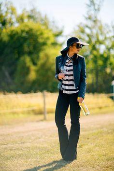 True religion black dana flare jeans // H&M black wool hat  // Charlotte Russe oversized sunglasses // black moto jacket // Winery vineyard fall outfit inspiration