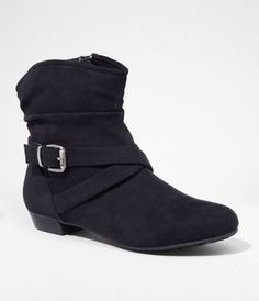 SIDE ZIP BUCKLE BOOT at Express
