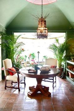 Garden Room by Whitney Stewart in the 2011 DC Design House with  birdcage chandelier by Artisan Lamps