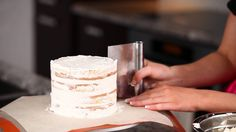How to Stack and Frost a Cake with Perfectly Smooth Sides