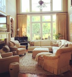 This is proof you can have it all,beautiful family room
