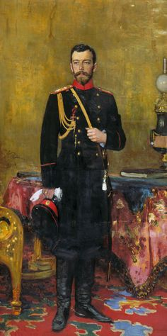 Portrait of Emperor Nicholas II. Oil on canvas. 210 × 107 cm. The State Russian Museum, St. Petersburg.
