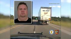 Newly released dsahcam video shows a commercial semitrailer driver stumbling and struggling to walk straight after being pulled over by police for weaving in and out of traffic erratically on a Minnesota highway, for which he was charged with driving while impaired.