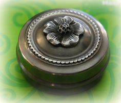 pill box Solid Perfume, Metal Ring, Pill Boxes, Little Boxes, Trinket Boxes, Ants, Jewelry Box, Dresser, Rings For Men