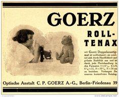 Original-Werbung/ Anzeige 1924 - GOERZ ROLL - TENAX KAMERA  - ca. 140 x 110 mm