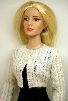 Winter White Short Cardigan for 16-Inch Fashion Dolls and the Ellowyne Wilde