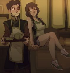 Avatar The Last Airbender Discover [Fan content] Flirting in the Teashop by Tamatyka : TheLastAirbender Avatar Aang, Team Avatar, Zuko, The Last Avatar, Avatar The Last Airbender Art, Blade Runner, Avatar Series, Iroh, Dibujos Cute