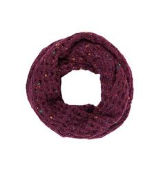 Chunky knit colorful snood