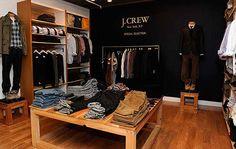 Studying men's retail design.