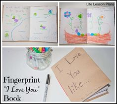 "Fingerprint ""I Love You"" Book - Life Lesson Plans"