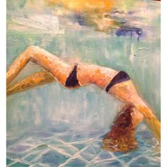 Water fun #artbyannep oil