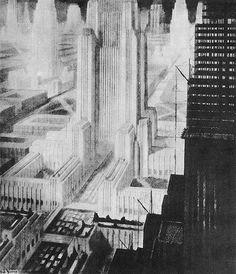 Hugh Ferris. The Metropolis of Tomorrow Doctor Ojiplático