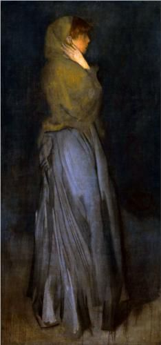 Arrangement in Yellow and Grey - James McNeill Whistler The light is awesome on this painting
