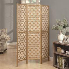 "Monarch Specialties I463 Frame 3 Panel ""Lantern Design"" Folding Screen"