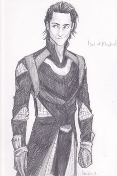 The God of Mischief, by burdge-bug. Love her drawings! So much! Go on deviantart and look her up. Right now!