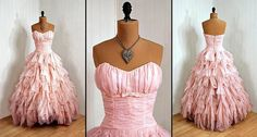 Pink wedding dress! I dont think I would ever actually wear a pink wedding dress, but LOVE!