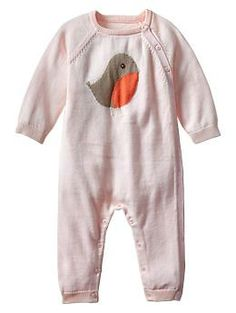 Just purchased. I plan to bring home Baby T in this from the hospital Intarsia bird sweater one-piece | Gap