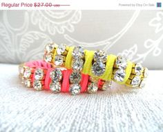 Special SALE Neon friendship bracelet sets  by Handemadeit, $21.60