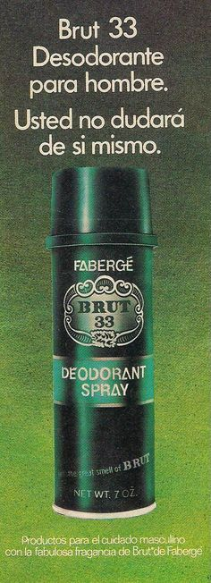 REVISTA SELECCIONES DEL READER'S DIGEST: DESODORANTE BRUT 33 DE FABERGÉ.