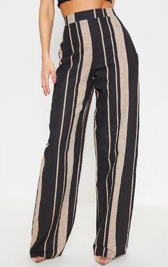 dd100876d8 Slant Pocket Striped Pants -SheIn(Sheinside) | SHEIN | Pants ...
