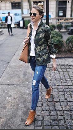 e4f4ad8ef5490 Utility Jacket Outfit, Camo Pants Outfit, Camo Jacket Outfits, Shirt Jacket,  Holiday
