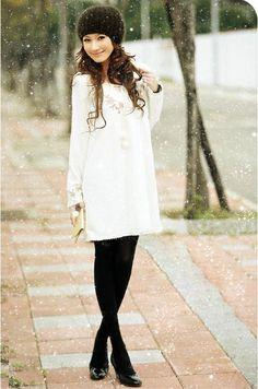 #snow #winter #coat #fashion #style