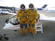 High Altitude sailplane record attempt