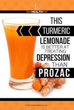 This Turmeric Lemonade Is Better At Treating Depression Than Prozac via…