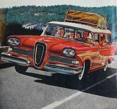 1958 Edsel woody station wagon , via Etsy.