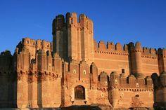 L'imposant château mudejar de Coca