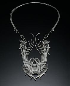 Neckpiece #19 | Mary Lee Hu. circa 1975. Fine and sterling silver