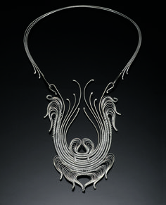 Neckpiece #19 | Mary Lee Hu. circa 1975. Fine and sterling silver