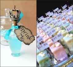 Alice in Wonderland / Mad Hatters Tea Party Ideas | yvonnebyattsfamilyfun.   Super cute ideas on this site!
