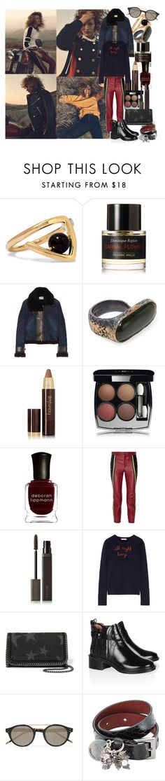 """""""When the evening shadows and the stars appear, and there is no one there to dry your tears, I could hold you for a million years"""" by brownish ❤ liked on Polyvore featuring URiBE, Frédéric Malle, Acne Studios, Bottega Veneta, Hourglass Cosmetics, Chanel, Deborah Lippmann, Chloé, Laura Mercier and Lingua Franca"""