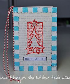Some fiddling on the kitchen table: Christmas in Blue/Red/White #1