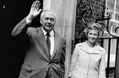 British Prime Minister Harold Wilson and his wife, Mary, outside Number Ten Downing Street, London. Harold Wilson, Robin Wilson, Made In Dagenham, Daughters, Sons, First Prime Minister, British Prime Ministers, Political Leaders, Uk News