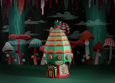 Colorful Paper Village Installations for Hermes by Zim & Zou | Colossal