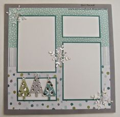 Stampin' Up! - All Is Calm - Scrapbook Page 2 Teri Pocock - http://teriscraftspot.blogspot.co.uk/2014/11/all-is-calm-scrapbook-page-2.html #scrapbooklayouts