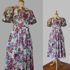 1980's Dress / Vintage Floral Chintz / Lanz by DuncanLovesTess, $48.00 #vintage #fashion #etsy