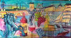 LE SUR MESURE - Galerie Villa Mandarine à Bordeaux ,tableaux contemporains de Laurence PERIN essais à domicile gratuit