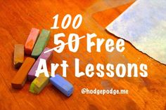 100 Free Art Lessons at Hodgepodge - Art for All Ages - Chalk Pastels & Acrylics www.hodgepodge.me