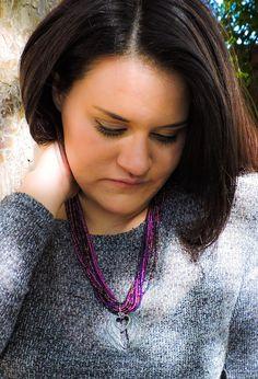 Angel wings heart multistrand necklace by KConklinJewelry on Etsy