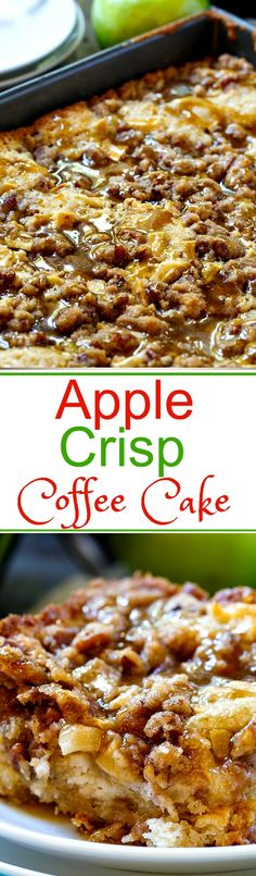 Crisp Coffee Cake Apple Crisp Coffee CakeApple (disambiguation) An apple is a pomaceous edible fruit of a temperate-zone deciduous tree. Apple, apples, or APPLE may also refer to: Apple Desserts, Köstliche Desserts, Apple Recipes, Fall Recipes, Delicious Desserts, Dessert Recipes, Yummy Food, Detox Recipes, Weight Watcher Desserts