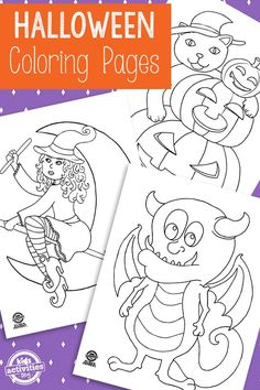 Break out the crayons, colored pencils, and markers for some coloring page fun this Halloween!