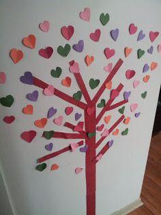 hochzeitseinladung pink: Valentine Baum mit Herzen für Ihr Design ...