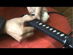 How to wrap and finish in the tsika ito style for a katana.