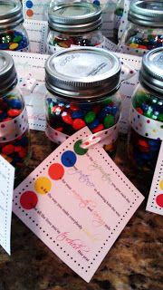 M&M teacher gift tag...free printable. Cute dark brown tag not shown in picture