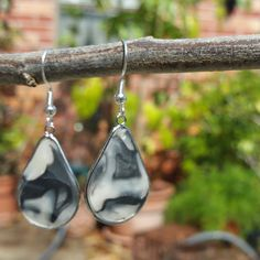 """Black and White Modekka Earrings by TheArtisanStudios  Use coupon code """"FIRST10"""" to get a 35% off discount as a thank you for being one of our first customers!"""