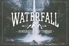 Monday Mania! Free Graphics!! Waterfall. Handcrafted Font (+bonus) by Cosmic Store on @creativemarket